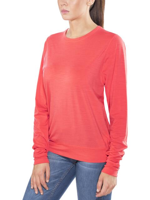 Icebreaker W's Mira LS Crewe Shirt poppy red